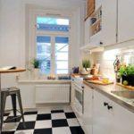 Alb si negru pentru decor modern in bucatarie