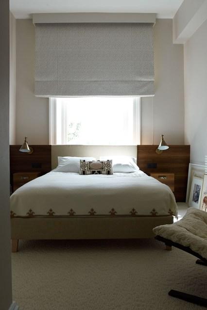 Amenajare simpla si eleganta a unui dormitor de dimensiuni medii