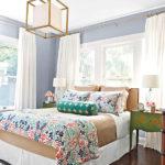 Auriu si alb model modern de lustra pentru dormitor