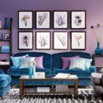 Canapea cu tapiterie din catifea petru living teatral
