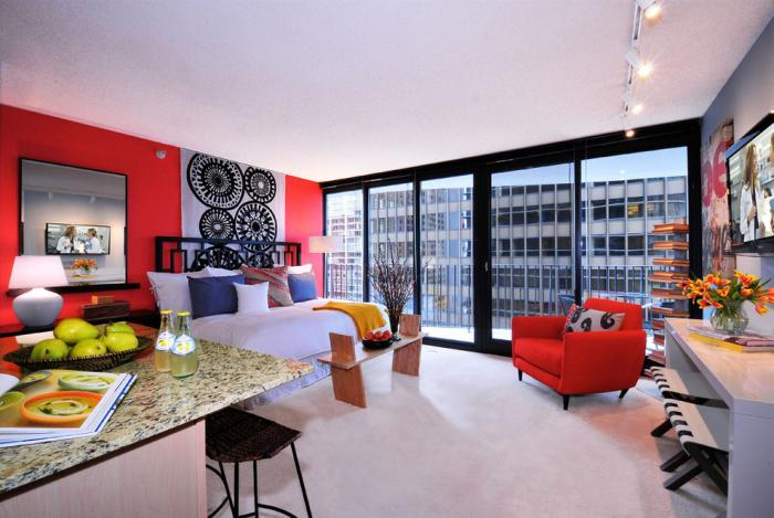 Decor modern apartament open space