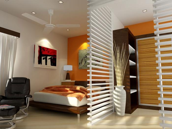 Idee delimitare zona de dormit in garsoniera