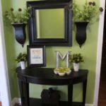 Masuta consola pe semicerc si oglinda culoare neagra