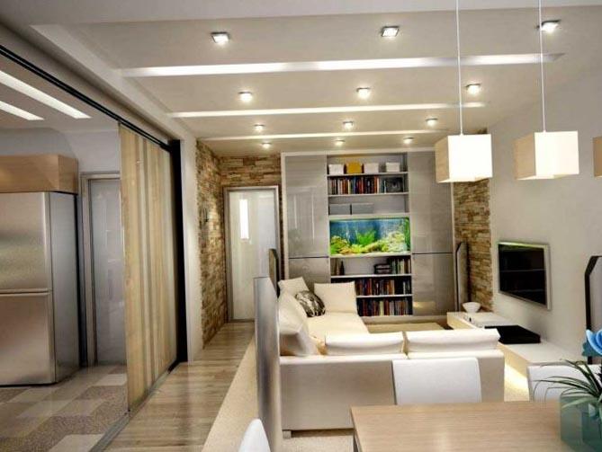 Perete despatitor glisant pentru delimitarea unui apartament open space