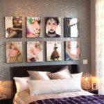 Colectie deasupra patului din coperti de reviste