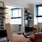 Pereti cu etajere suspendate living modern