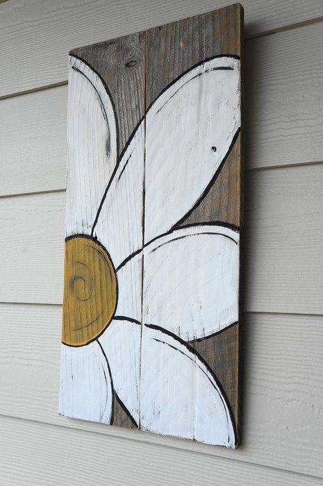 Pictura pe lemn decoratiune ieftina si de efect