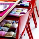 Set de pernute pentru scaune realizate in tehnica patchwork