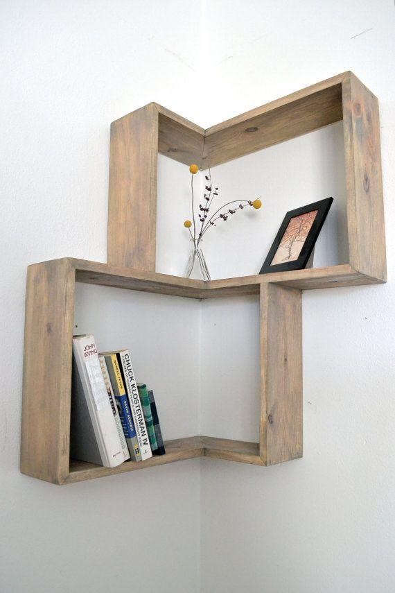 idee originala si creativa de etajera pe coltul peretilor
