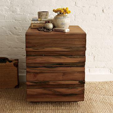 lemn masiv nefinisat pentru o noptiera de vis