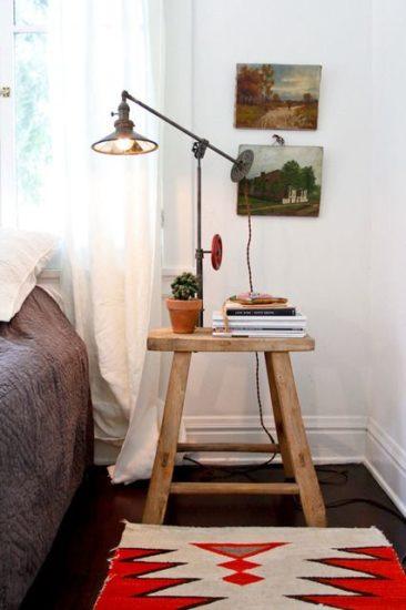 noptiera obtinuta din folosirea si reconditionarea unui scaun vechi