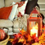pernute decorative cu alb, portocaliu si maro