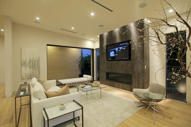 Living in nuante de bej pentru un design modern