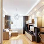 Varianta mobilare si alegere culori pentru living mic