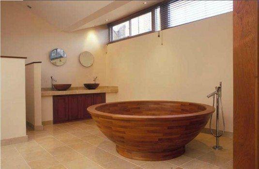 Chiuvete si cada rotunde confectionate din lemn