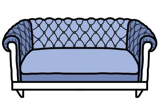 model canapea capitonata