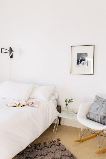 pat alb dormitor