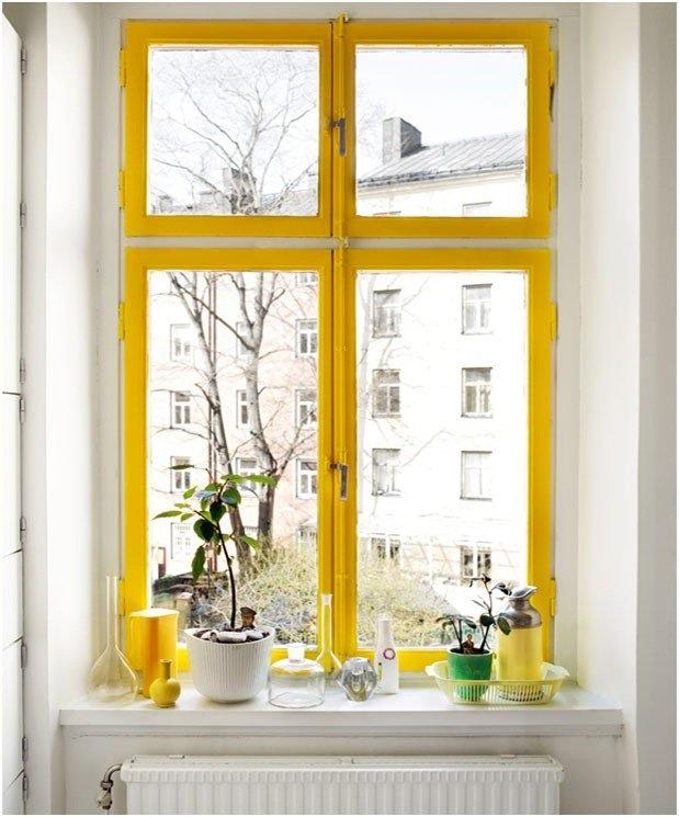rama fereastra galbena