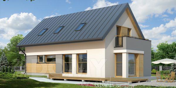 Casa cu balcon zidit