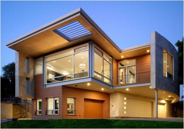 Casa cu etaj moderna cu ferestre mari