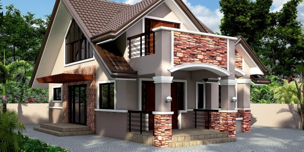 Casa cu mansarda si balcon1