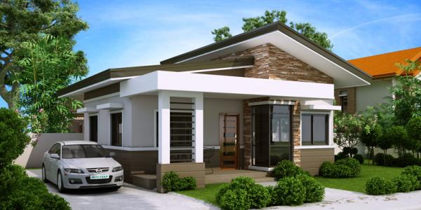 Casa cu terasa in fata intrarii