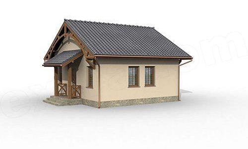 Casa doar cu parter cu 2 camere