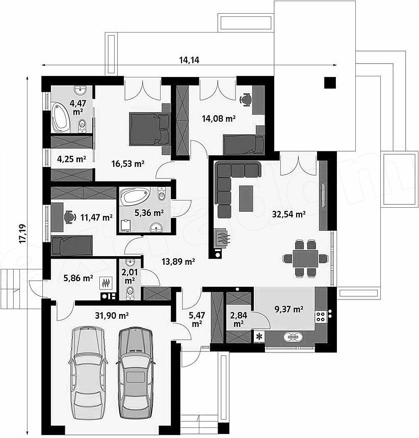 Casa doar parter cu 4 camere