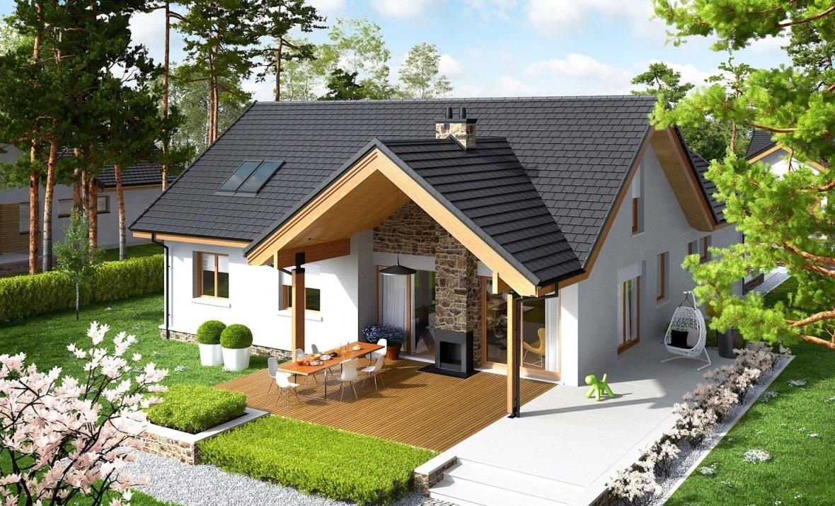 Casa mica cu iesire pe terasa for Case de 100 mp