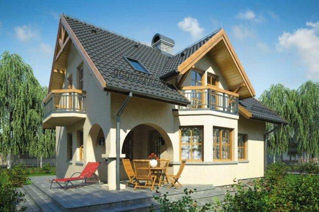 Casa mica cu intrarea in arcada