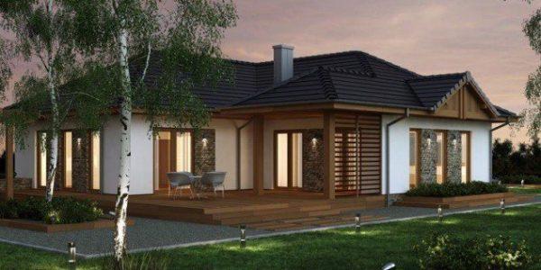 Casa moderna pe un singur nivel