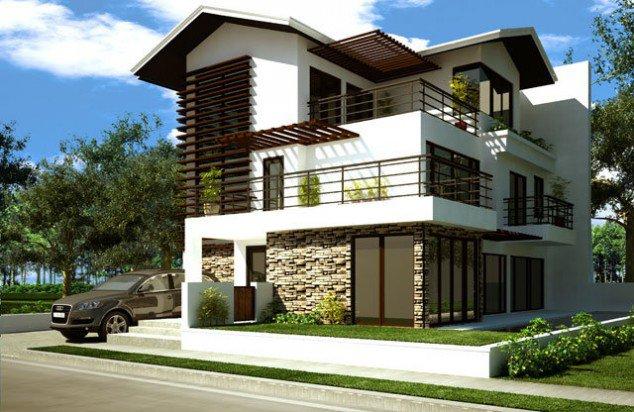 Casa pe 3 nivele cu terasa pe acoperis