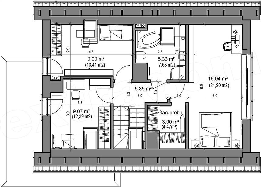 Etaj casa mica de 48 mp