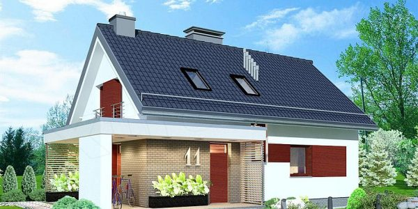 Model casa cu mansarda