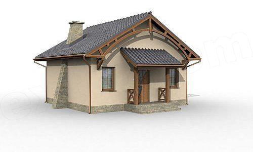 Model casa mica cu 2 camere