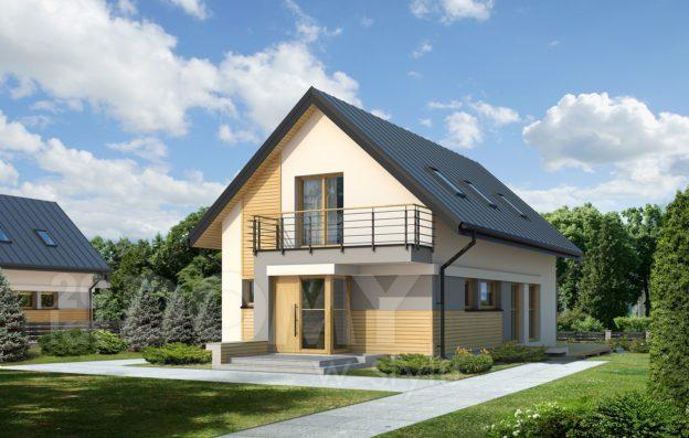 Model casa pentru teren ingust