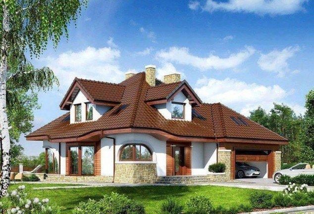 Model de casa cu forma de patrat