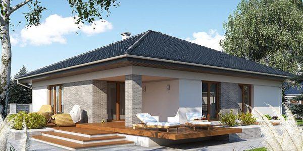 Model de casa moderna fara etaj