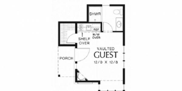 Plan de casa mica cu 1 camera