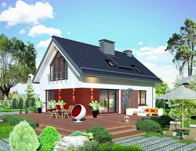 Proiect casa cu mansarda 115 mp