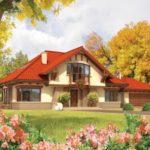 Proiect casa cu mansarda si garaj in stil clasic