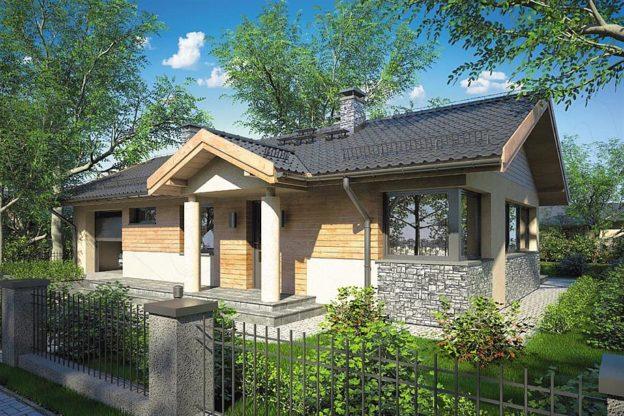 Proiect casa fara etaj cu terasa