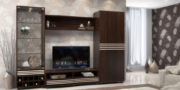 Vitrina living cu comoda TV