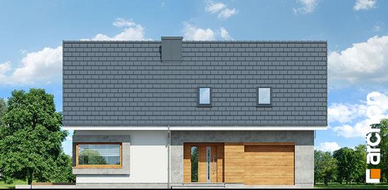 Casa cu 4 dormitoare la mansarda elevatie frontala
