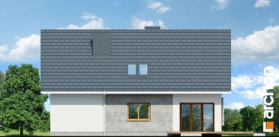 Casa cu 4 dormitoare la mansarda elevatie gradina