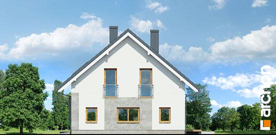 Casa cu 4 dormitoare la mansarda elevatie laterala