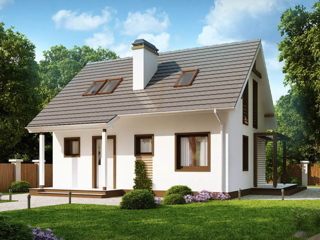 Casa cu mansarda si arhitectura clasica