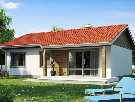 Casa cu parter si trei dormitoare fara garaj vedere spate