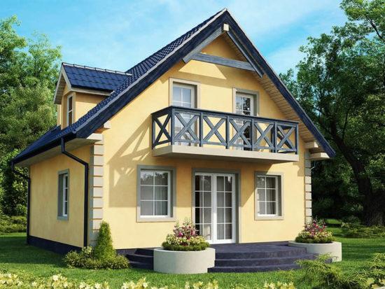 Casa cu trei dormitoare si mansarda vedere spate