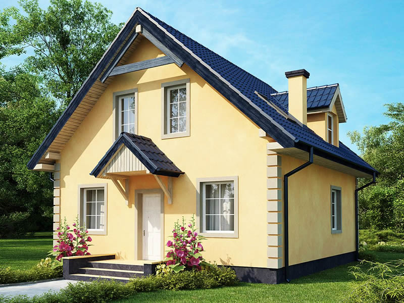 Casa cu trei dormitoare si mansarda